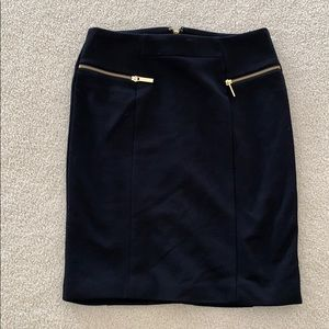 NWOT - Size 8 Michael Kors Skirt Lined Gold Zipper